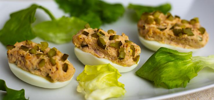 Plnené vajcia so šunkou