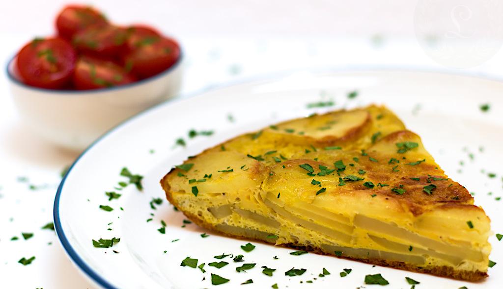 Rez španielskej zemiakovej tortilly