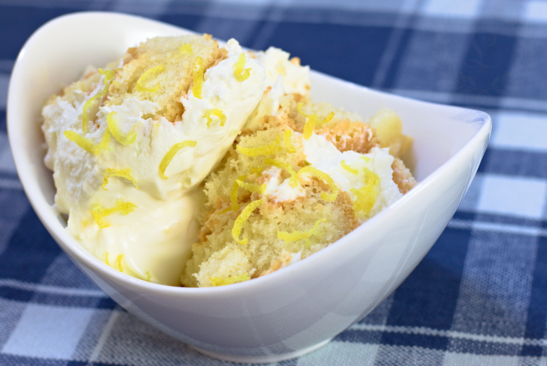 Porcia citrónovej piškótovej torty